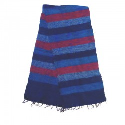 Striped wool scarf Yak 150x30 cm - Model 28