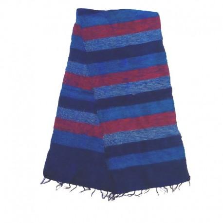 Striped wool scarf Yak 150x30 cm - Model 28