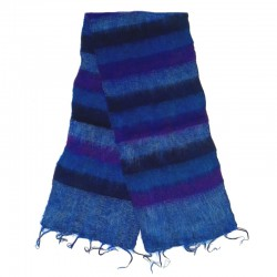 Striped wool scarf Yak 150x30 cm - Model 35