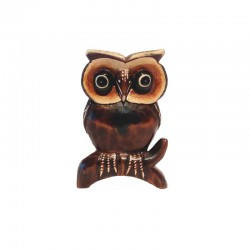 Owl H 11 cm in wood