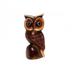Owl H14 cm sculpture wood