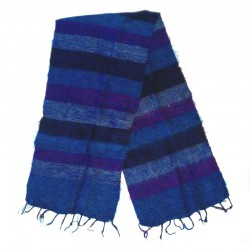 Striped wool scarf Yak 150x30 cm - Model 42