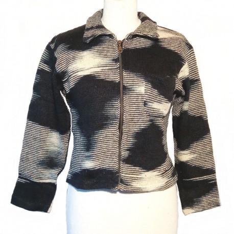 Ethnic vest whit black and white design cotton