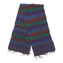 Striped wool scarf Yak 150x30 cm - Model 46