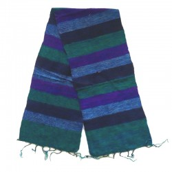 Striped wool scarf Yak 150x30 cm - Model 48