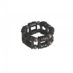 Bracelet 3,5 cm perles bois - Différentes couleurs