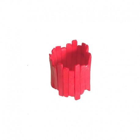 Bracelet resin strips 6cm width - Red