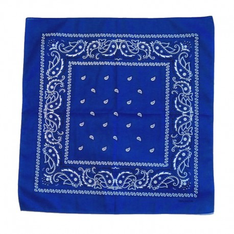 Bandana en coton bleu foncé