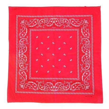 Bandana en coton rouge