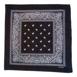 Cotton black scarf bandana