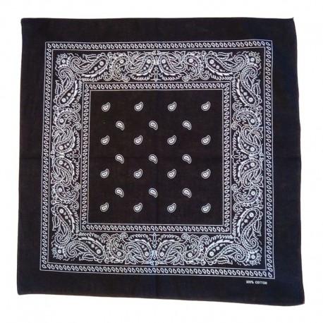 Foulard bandana en coton noir