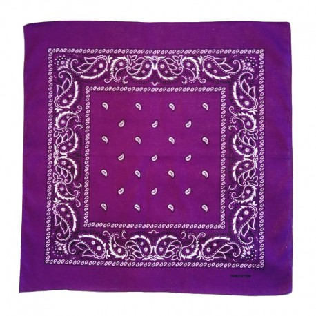 Purple cotton bandana