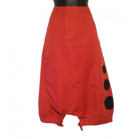 Sarouel court - Rouge et noir