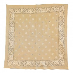 Fine cotton sand colored bandana