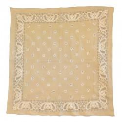 Fine cotton sand colored bandana