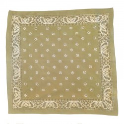 Fine cotton olive green bandana