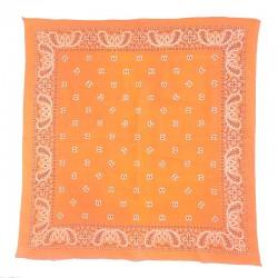 Bandana coton fin orange