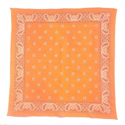 Fine cotton orange bandana