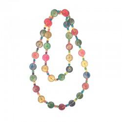 Collier perles couleurs en bois - Différentes modèles