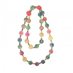 Necklace wooden colored beads - Different models