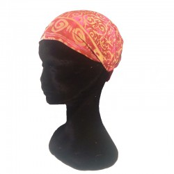 Raspberry and pink cotton headband