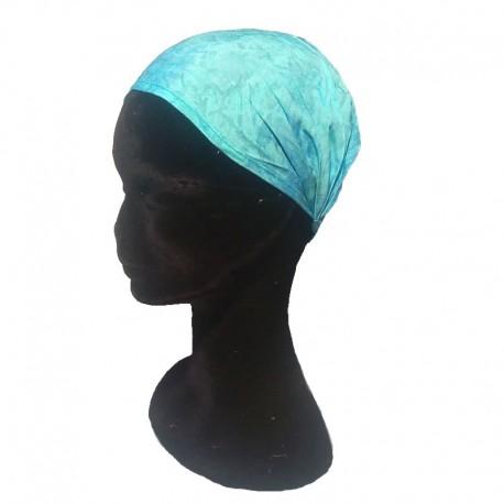 Blue cotton headband