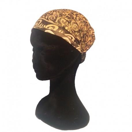 Brown-green cotton headband