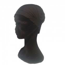 Black cotton headband