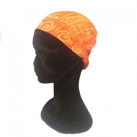 Orange cotton headband