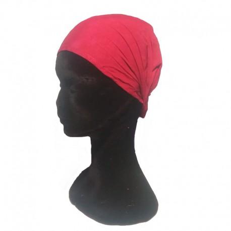 Burgundy cotton headband