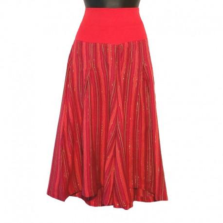 Pantacourt en coton brillant - Rouge