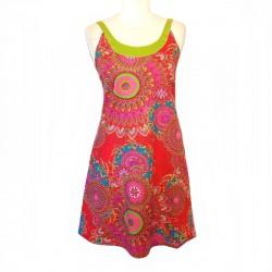 Robe courte bretelles en coton - Différentes tailles et couleurs