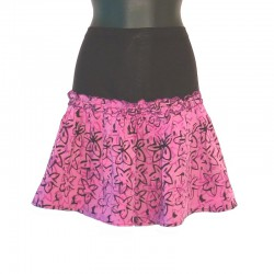 Flared short skirt in rayon - Different colors