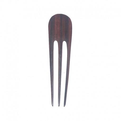 Pic à cheveux fourche en bois d'ébène