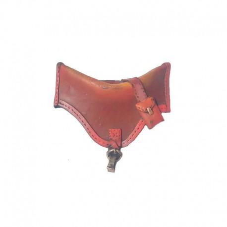 Horses saddle hair slide in resin