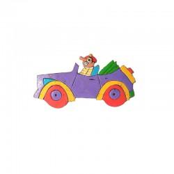 Barrette en résine auto violette