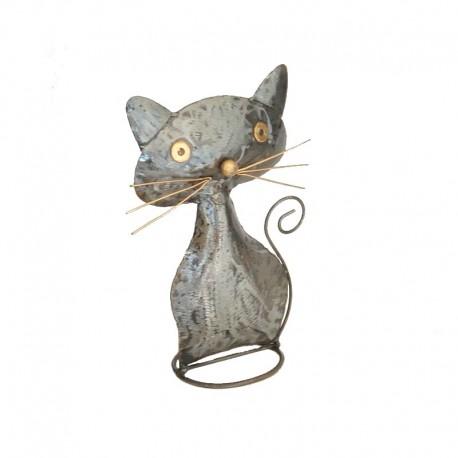 Chat en métal H30 cm