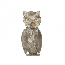 Metal owl H28 cm