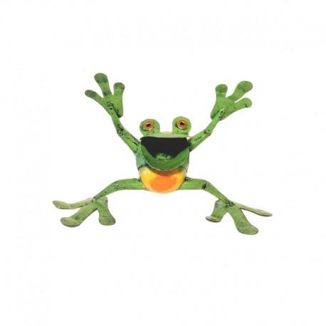 Metal frog H17 cm