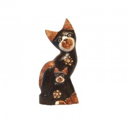 Cat and kitten statue H26 cm