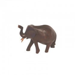 Elephant H 6 cm dark wood
