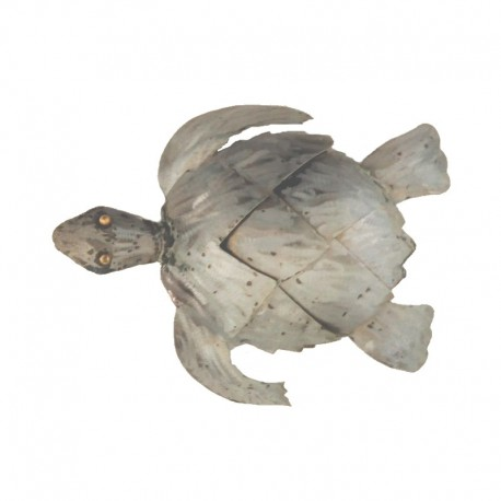 Metal turtle L31 cm - top view