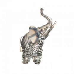 Metal elephant statue H37 cm