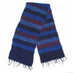 Striped wool scarf Yak 150x30 cm - Model 52
