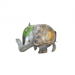 Elephant piggy bank in metal H13 cm