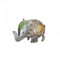 Eléphant tirelire en métal H13 cm