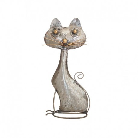 Metal cat statue H34 cm