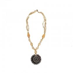 Collier perles et nacre Rosace - Différentes couleurs