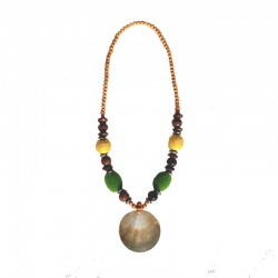 Necklace beads and nacre - Light green