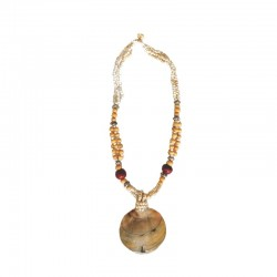 Necklace beads, wood and nacre - Different colors